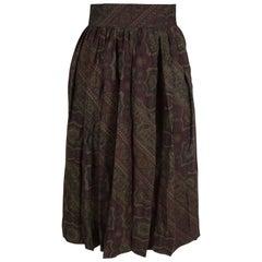 Vintage Pancaldi  Paisley Wool and Silk Skirt
