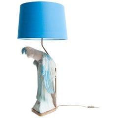 Vintage Parrot Lamp, German, circa 1950