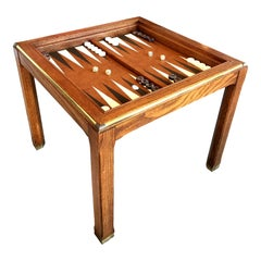 Vintage Parson's Style Backgammon and Chess Game Table
