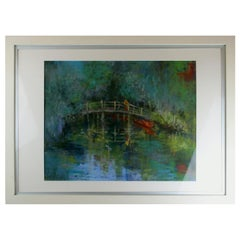 "Vintage Pastel Painting ""Reflections at Flatford Mill"" by Joyce Meyers"