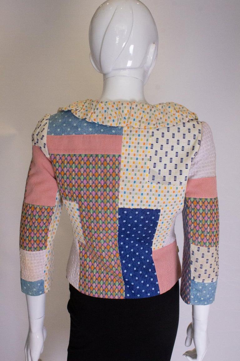 Vintage Patchwork Jacket In Good Condition For Sale In London, GB