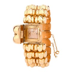 Vintage Patek Philipe 18k Gold Retro Covered Watch Bracelet