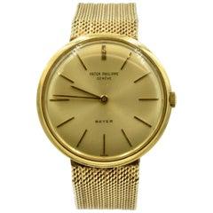 Vintage Patek Philippe 14 Karat Yellow Gold Wrist Watch 2591