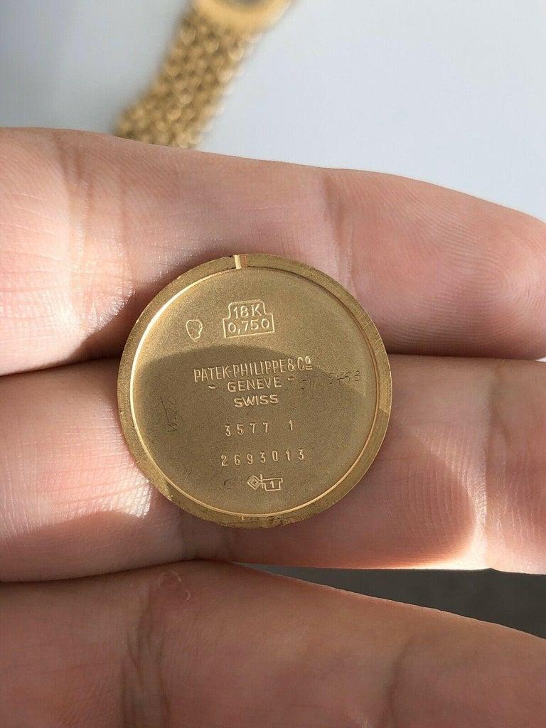 Vintage Patek Philippe 18 Karat Yellow Gold Ellipse 3577/1 Watch 84g 6