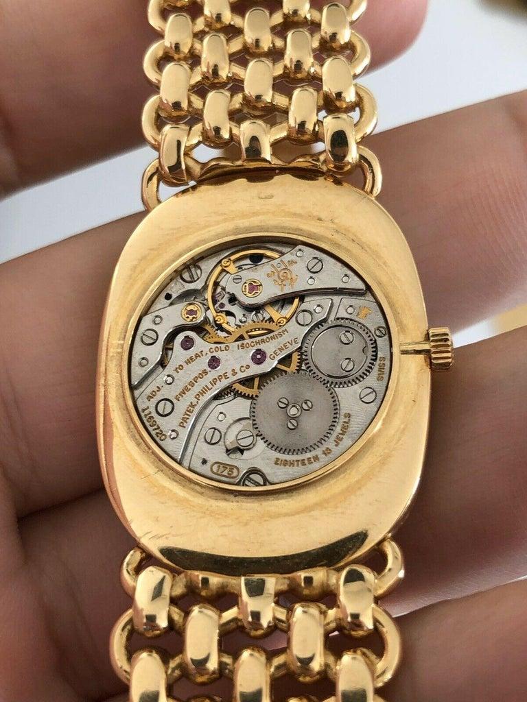Vintage Patek Philippe 18 Karat Yellow Gold Ellipse 3577/1 Watch 84g 3