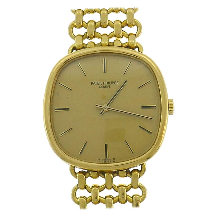 Vintage Patek Philippe 18k Yellow Gold Wristwatch Manual Wind