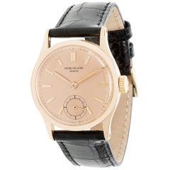 Vintage Patek Philippe Calatrava 96R Unisex Watch in Rose Gold