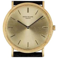 Vintage Patek Philippe Calatrava Yellow Gold Champagne Dial 3520/10