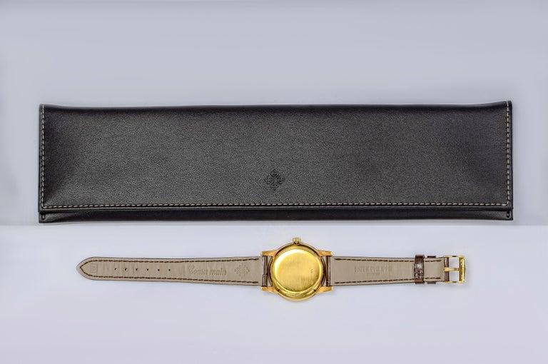 Vintage Patek Philippe Calatrava Yellow Gold Wristwatch Ref. 2452J For Sale 1