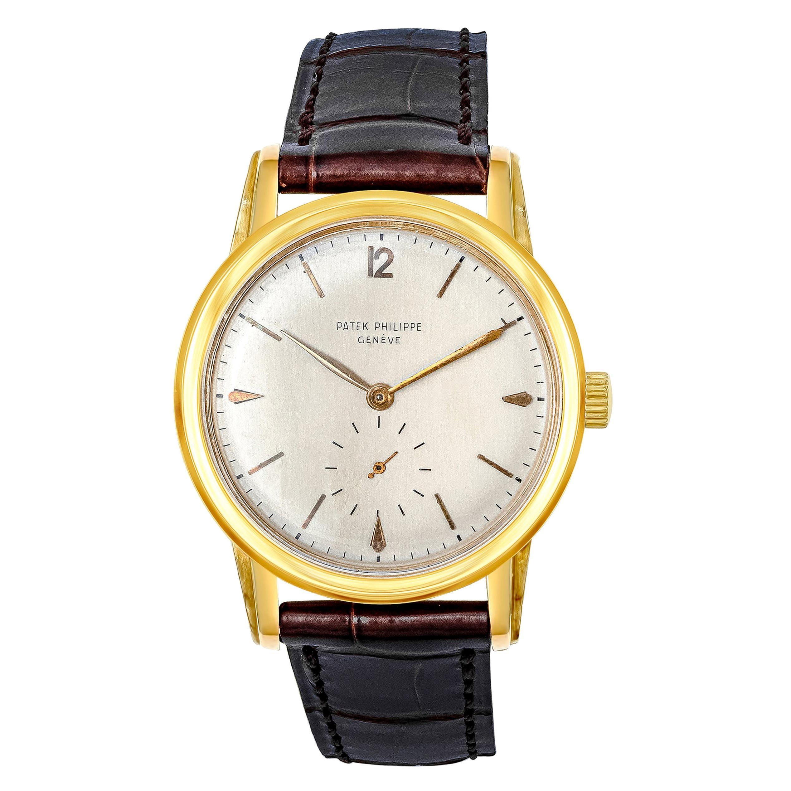 Vintage Patek Philippe Calatrava Yellow Gold Wristwatch Ref. 2452J