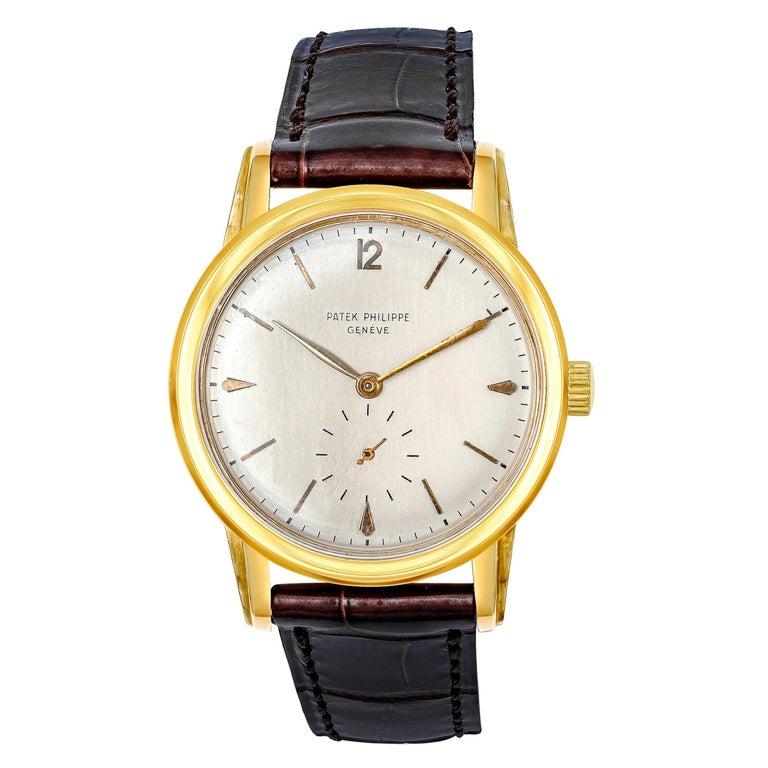 Vintage Patek Philippe Calatrava Yellow Gold Wristwatch Ref. 2452J For Sale