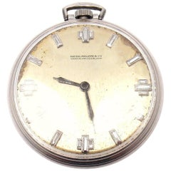 Vintage Patek Philippe Diamond Platinum Pocket Watch
