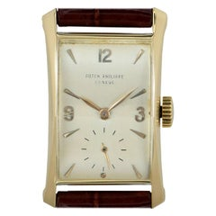 Vintage Patek Philippe Hour Glass 2468 Silver Dial Watch
