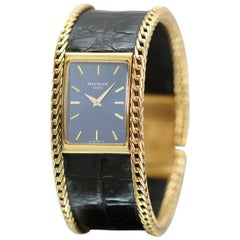 Vintage Patek Philippe Ladies Wristwatch Ref 4241 18 Karat Gold and Leather
