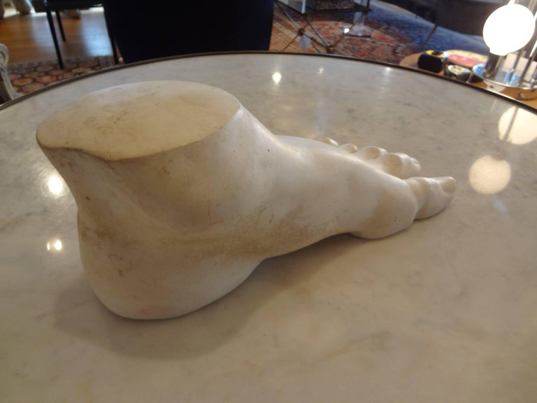 Mid-20th Century Vintage French Academic Patinated Plaster Foot For Sale