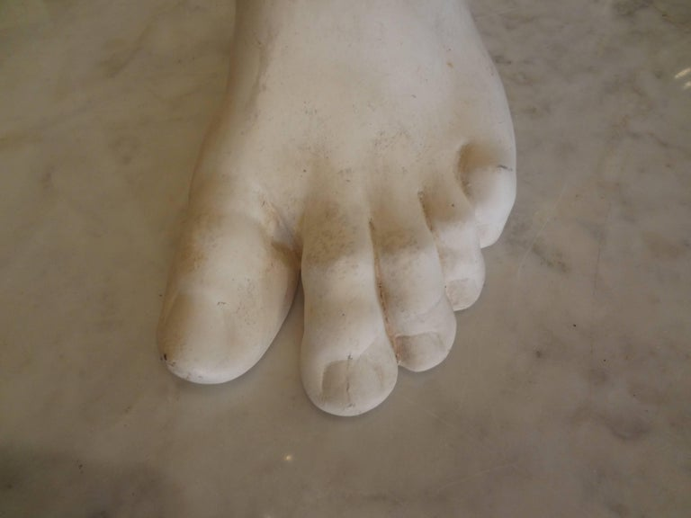 Vintage French Academic Patinated Plaster Foot For Sale 2