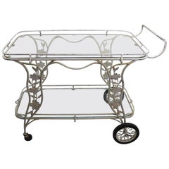 Vintage Patio Garden Serving Cart Possibly Molla, Salterini, or Leinfelder
