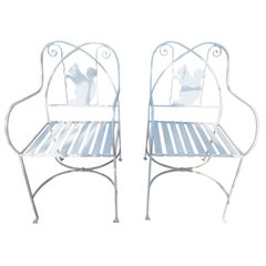 Vintage Patio or Garden Chairs, with Squirrel Backs