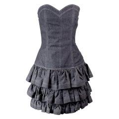 Vintage Patrick Kelly Denim Dress Circa 1980's