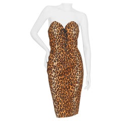 Patrick Kelly Spring/Summer 1989 Leopard Bustier Dress