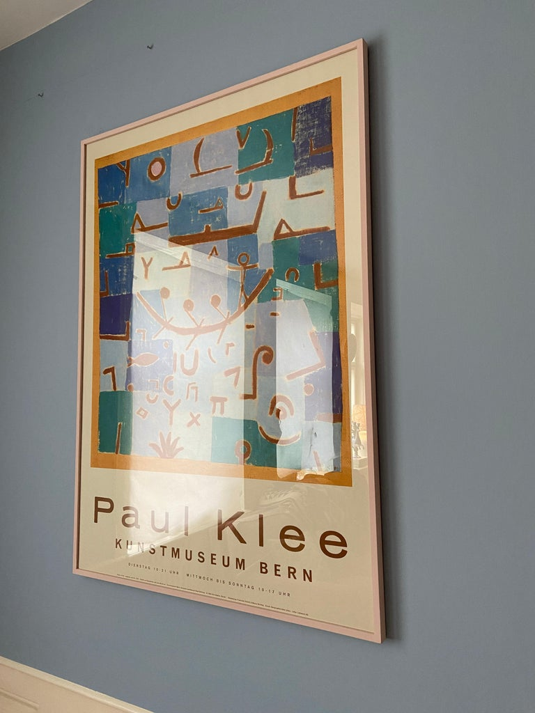 Swiss Vintage Paul Klee Exhibition Poster from Kunstmuseum Bern, Switzerland, 1994 For Sale