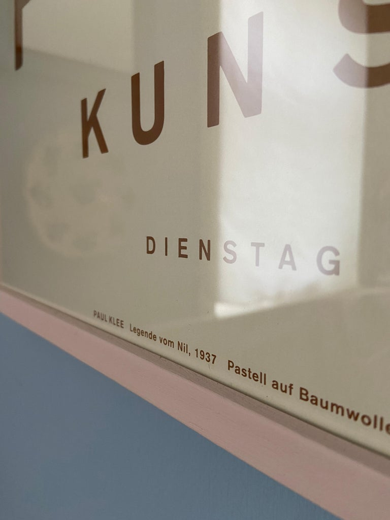 Late 20th Century Vintage Paul Klee Exhibition Poster from Kunstmuseum Bern, Switzerland, 1994 For Sale