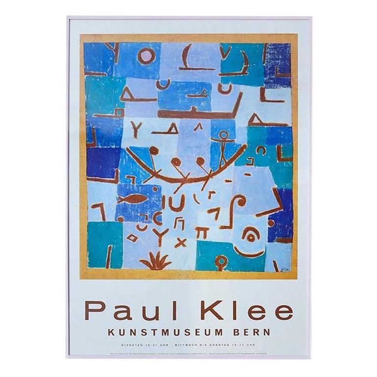 Vintage Paul Klee Exhibition Poster from Kunstmuseum Bern, Switzerland, 1994 For Sale