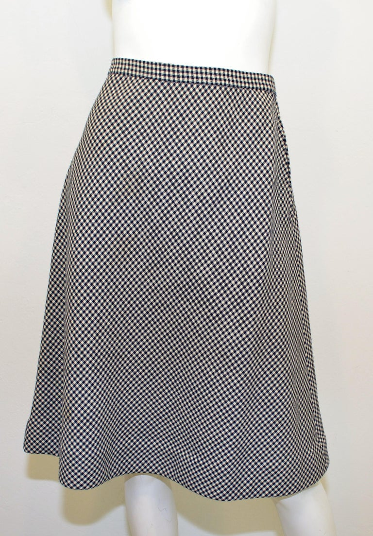 Vintage Pauline Trigere Houndstooth Skirt And Jacket Suit