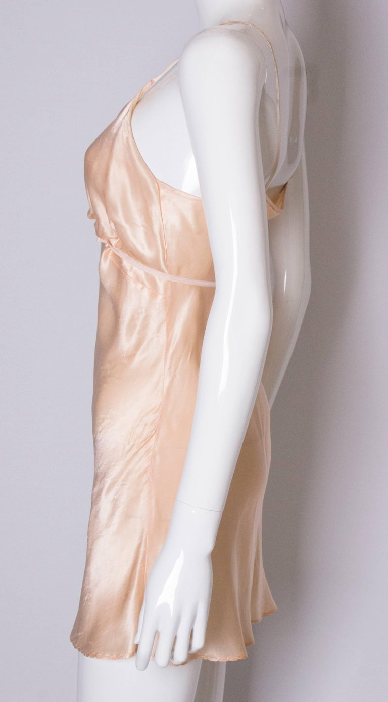 Vintage Peach Satin Cami Nickers For Sale 1