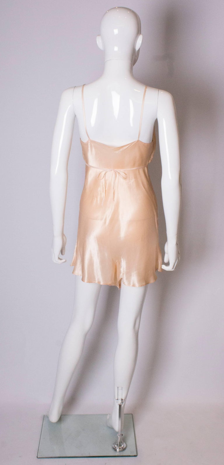 Vintage Peach Satin Cami Nickers For Sale 2