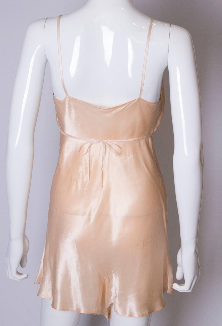 Vintage Peach Satin Cami Nickers For Sale 3