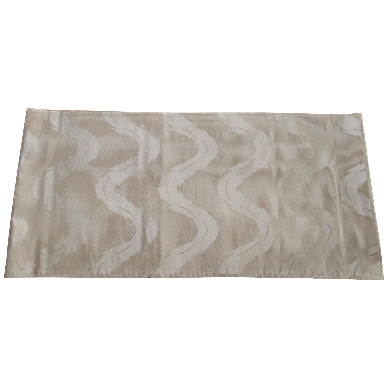 Vintage Pearl Color Obi Silk Textile
