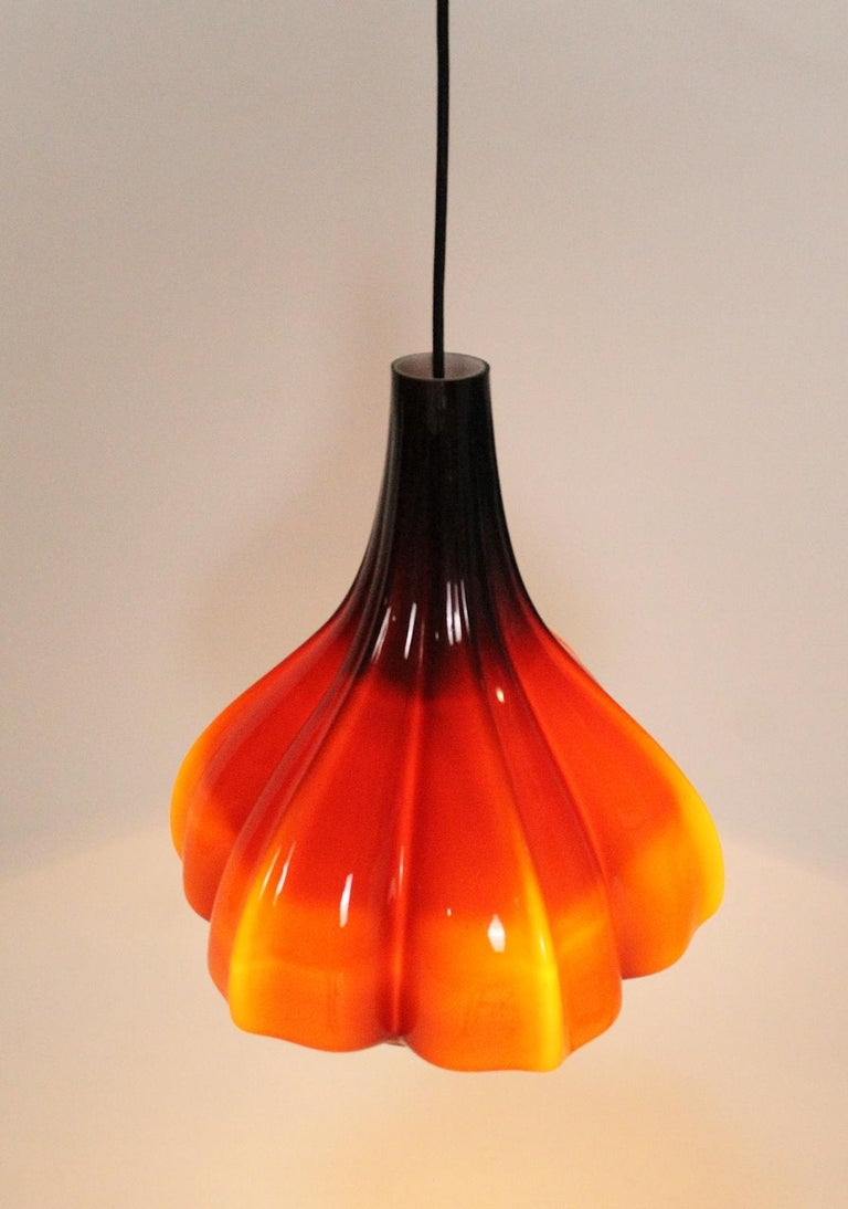 Mid-Century Modern Vintage Peill & Putzler Flower Shaped Ceiling Lamp 1970s Germany For Sale