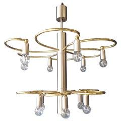 Vintage Pendant Chandelier Lamp Chrome