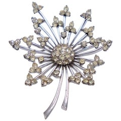 Vintage Pennino Sterling Flower Brooch 1950s
