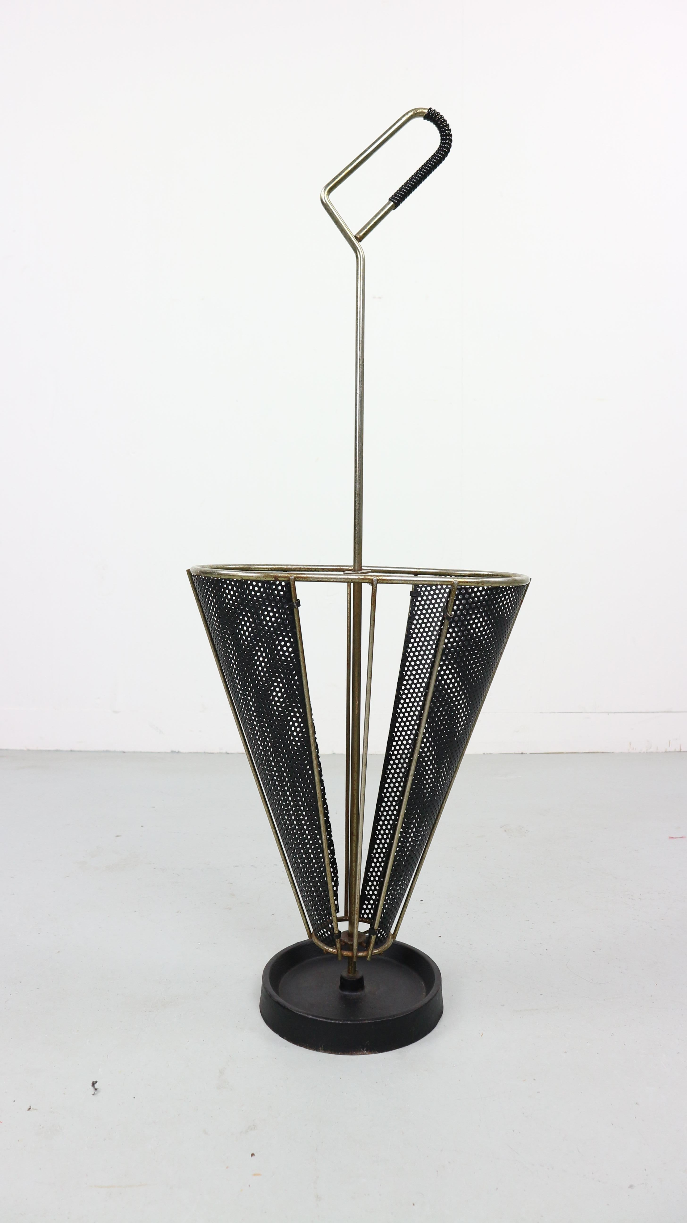 Umbrella Stand Designs : Vintage perforated metal umbrella stand s at stdibs