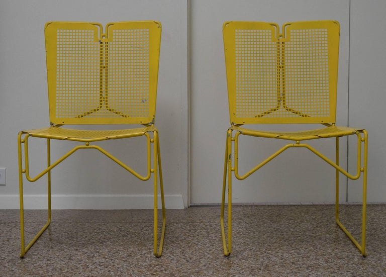 Vintage Perforated Steel Chairs For Sale At 1stdibs