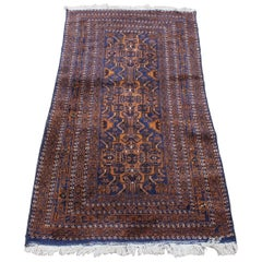 Vintage Persian Afghan Baluch Hand Knotted Area Rug Runner Carpet