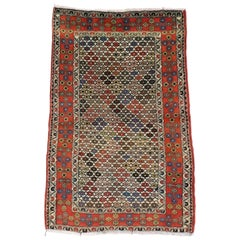 Vintage Persian Afshar Accent Rug in Nomadic Village Style