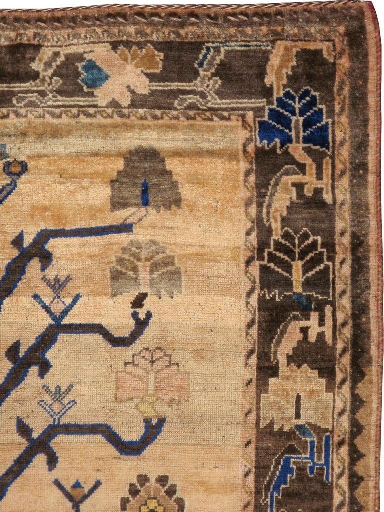 A vintage Persian Afshar rug from the mid-20th century with a large 'tree of life' design as its central medallion focal point.  Measures: 4' 10