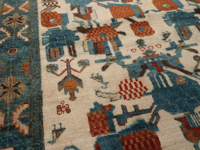20th Century Vintage Persian Afshar Rug For Sale