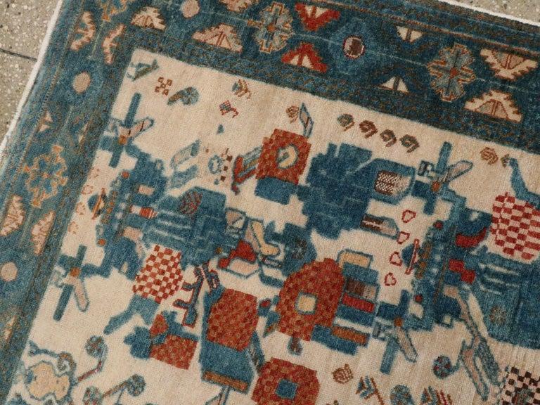 Wool Vintage Persian Afshar Rug For Sale