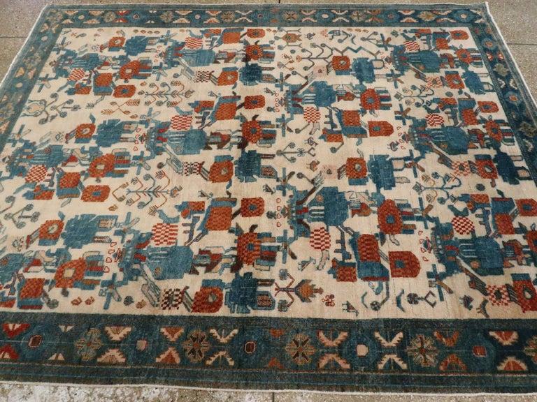 Vintage Persian Afshar Rug For Sale 1