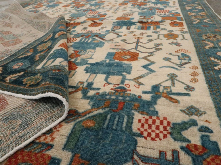 Vintage Persian Afshar Rug For Sale 2