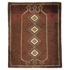 Vintage Persian Afshar Rug with Mid-Century Modern Style