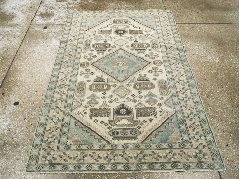 Hand-Knotted Vintage Persian Ardebil Rug For Sale