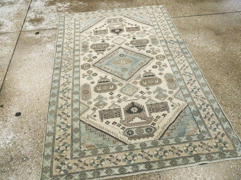 Vintage Persian Ardebil Rug In Excellent Condition For Sale In New York, NY