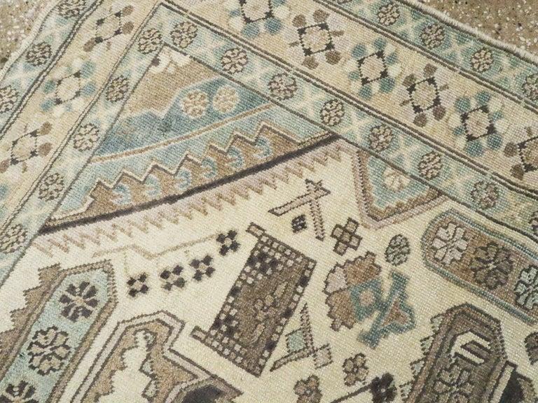 Wool Vintage Persian Ardebil Rug For Sale