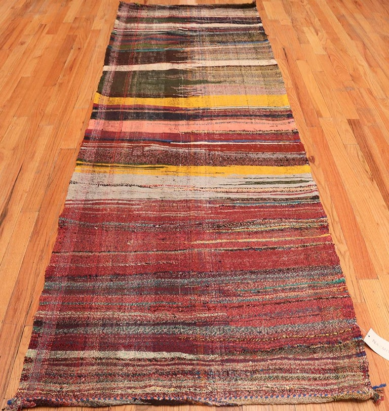 Vintage Persian Artistic Kilim Runner Rug. Size: 2 ft 9 in x 11 ft 3 in For Sale 1