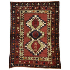 Vintage Persian Azerbaijan Rug with Tribal Style